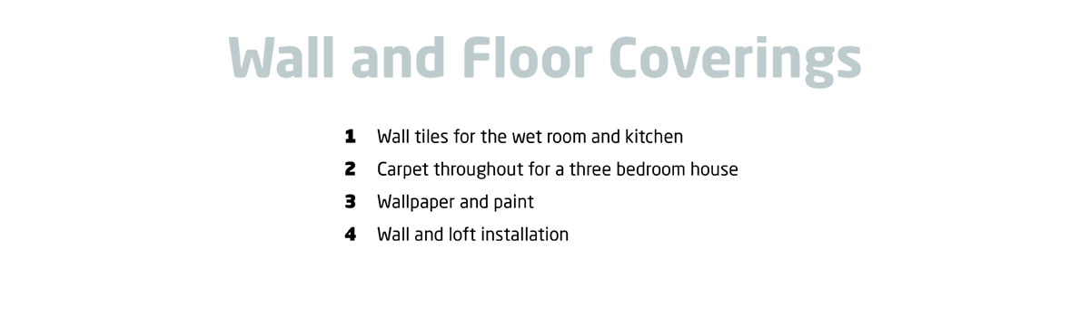 Wall and floor coverings