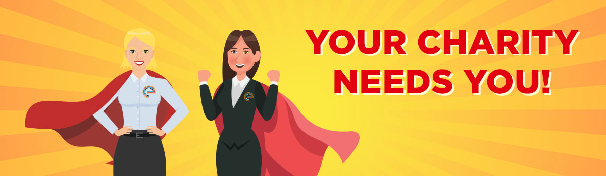 your charity needs you banner