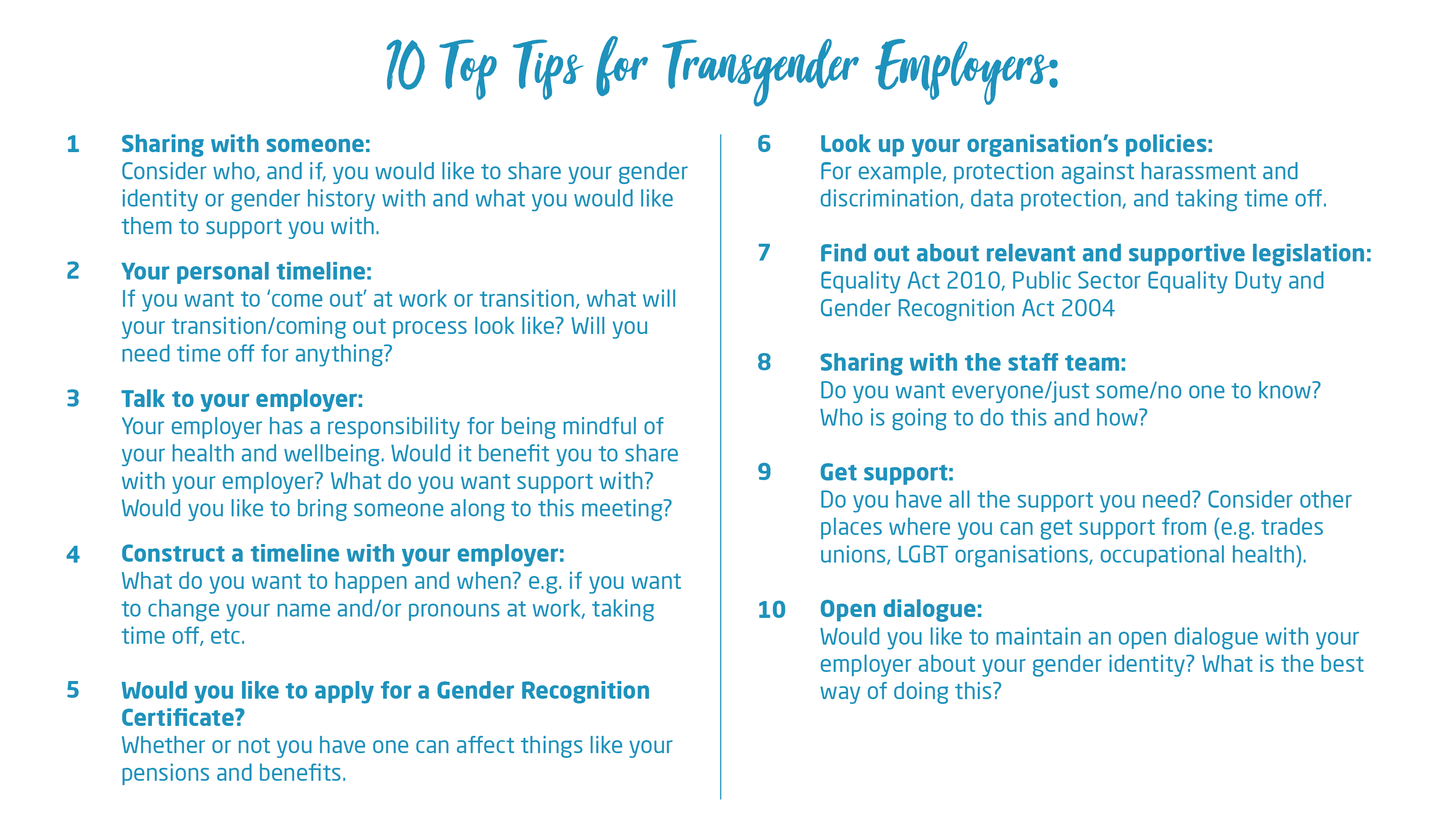 10 tips employees